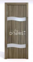 Дверь межкомнатная DO-503 Сосна глянец/Снег
