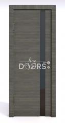 Дверь межкомнатная DO-507 Ольха темная/стекло Черное