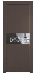 ШИ дверь DO-601 Бронза/стекло Черное
