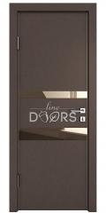 Дверь межкомнатная DO-512 Бронза/зеркало Бронза