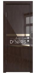 Дверь межкомнатная DO-513 Венге глянец/зеркало Бронза