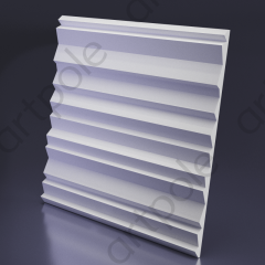Гипсовая 3D панель ZEBRANO 600x600x32,7 мм