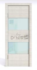 Дверь межкомнатная DO-508 Ива светлая/стекло Белое