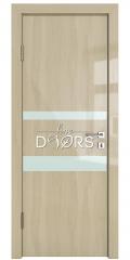Дверь межкомнатная DO-512 Анегри светлый/стекло Белое
