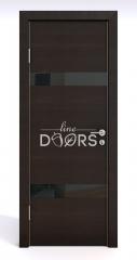 Дверь межкомнатная DO-502 Венге горизонтальный/стекло Черное