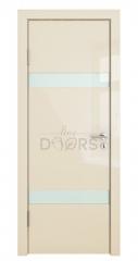 ШИ дверь DO-602 Ваниль глянец/стекло Белое