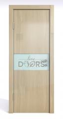Дверь межкомнатная DO-501 Анегри светлый/стекло Белое