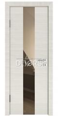 Дверь межкомнатная DO-510 Ива светлая/зеркало Бронза