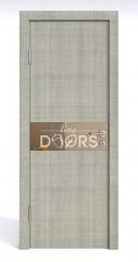 Дверь межкомнатная DO-509 Серый дуб/зеркало Бронза