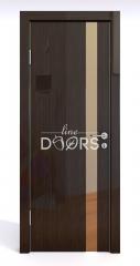 ШИ дверь DO-607 Венге глянец/зеркало Бронза