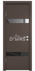 Дверь межкомнатная DO-502 Бронза/стекло Черное