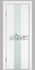 Дверь межкомнатная DO-510 Белый бархат/стекло Белое