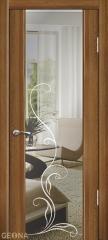 Дверь Geona Doors Люкс 1 с гравировкой