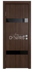 Дверь межкомнатная DO-502 Мокко/стекло Черное