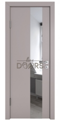ШИ дверь DO-604 Серый бархат/Зеркало