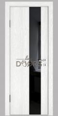 Дверь межкомнатная DO-504 Белый глубокий/стекло Черное