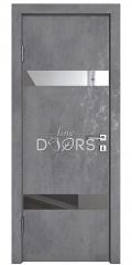 ШИ дверь DO-602 Бетон темный/Зеркало