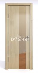 Дверь межкомнатная DO-504 Анегри светлый/зеркало Бронза