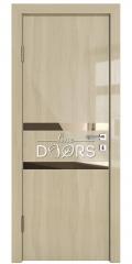 Дверь межкомнатная DO-513 Анегри светлый/зеркало Бронза