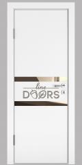 Дверь межкомнатная DO-513 Белый бархат/зеркало Бронза