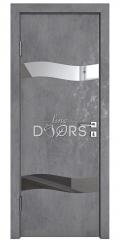 Дверь межкомнатная DO-503 Бетон темный/Зеркало