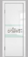 Дверь межкомнатная DO-512 Белый глянец/стекло Белое