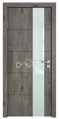 Дверь межкомнатная TL-DO-504 Серый кедр/стекло Белое