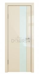 ШИ дверь DO-604 Ваниль глянец/стекло Белое