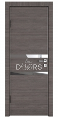 ШИ дверь DO-613 Ольха темная/Зеркало