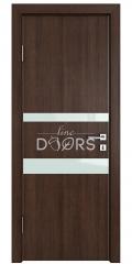 Дверь межкомнатная DO-512 Мокко/стекло Белое