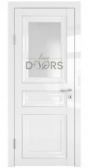 Дверь межкомнатная DO-PG4 Белый глянец/Ромб
