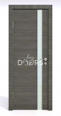 Дверь межкомнатная DO-507 Ольха темная/стекло Белое