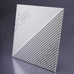 Гипсовая 3D панель FIELDS 1 Platinum материал глянец 600x600 мм