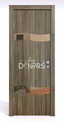 Дверь межкомнатная DO-503 Сосна глянец/зеркало Бронза