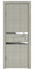 ШИ дверь DO-613 Серый дуб/Зеркало