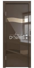 Дверь межкомнатная DO-503 Шоколад глянец/зеркало Бронза