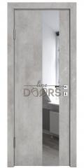 Дверь межкомнатная DO-504 Бетон светлый/Зеркало