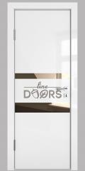 Дверь межкомнатная DO-512 Белый глянец/зеркало Бронза