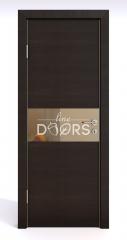 Дверь межкомнатная DO-501 Венге горизонтальный/зеркало Бронза