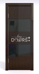 ШИ дверь DO-608 Венге глянец/стекло Черное