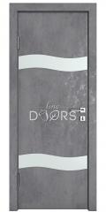 Дверь межкомнатная DO-503 Бетон темный/Снег