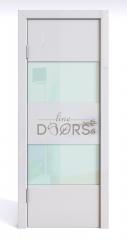 Дверь межкомнатная DO-508 Белый глянец/стекло Белое