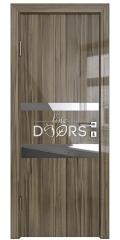 Дверь межкомнатная DO-512 Сосна глянец/зеркало Бронза