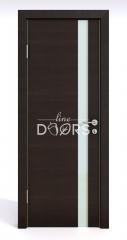Дверь межкомнатная DO-507 Венге горизонтальный/стекло Белое
