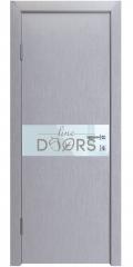 ШИ дверь DO-609 Металлик/стекло Белое