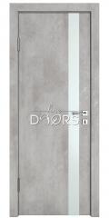 Дверь межкомнатная DO-507 Бетон светлый/Снег