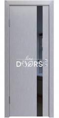 ШИ дверь DO-607 Металлик/стекло Черное