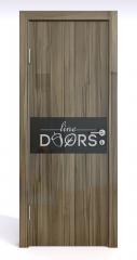 Дверь межкомнатная DO-501 Сосна глянец/стекло Черное