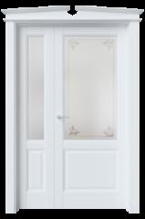 Двустворчатая дверь S4 стекло 2