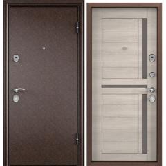 Дверь TOREX DELTA-112 Медный антик / CT Wood Light Grey DC-2